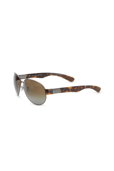 Ray Ban - Pilot Brown Double Bar Sunglasses