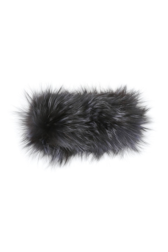 Viktoria Stass Blue Fox Fur Headband