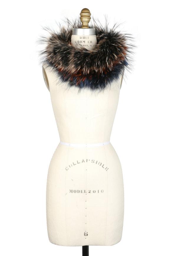 Viktoria Stass Orange & Blue Fur Neck Warmer