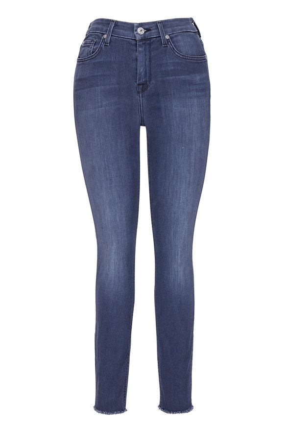 7 For All Mankind High Waist Ankle Skinny Jean