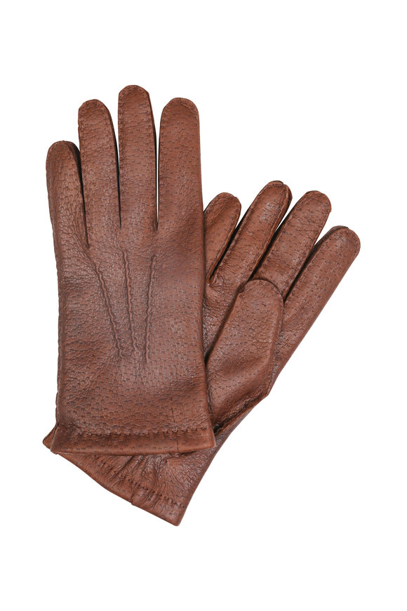 Hestra Burgundy Peccary Leather Gloves