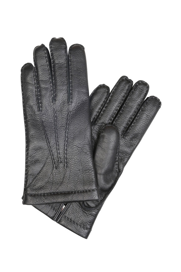 Hestra Black Elk Leather Gloves