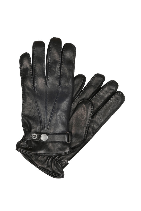 Hestra Jake Black Leather Gloves