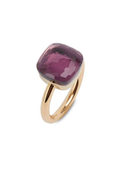 Pomellato - Pink Gold Large Amethyst Ring