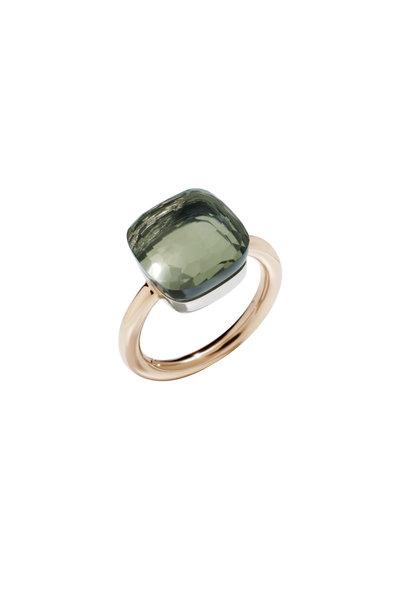 Pomellato - Nudo 18K Rose Gold Large Prasiolite Ring