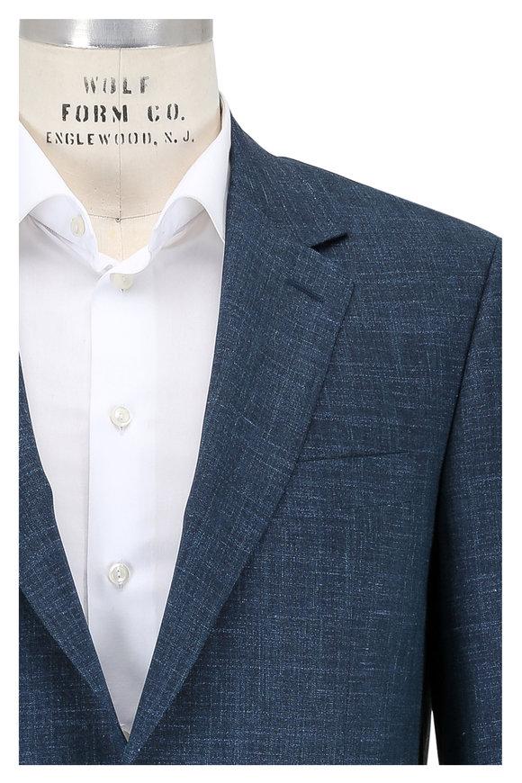 Canali Blue Wool, Silk & Linen Sportcoat