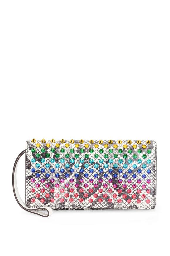Christian Louboutin Macaron Multicolor Spiked Snake Wristlet
