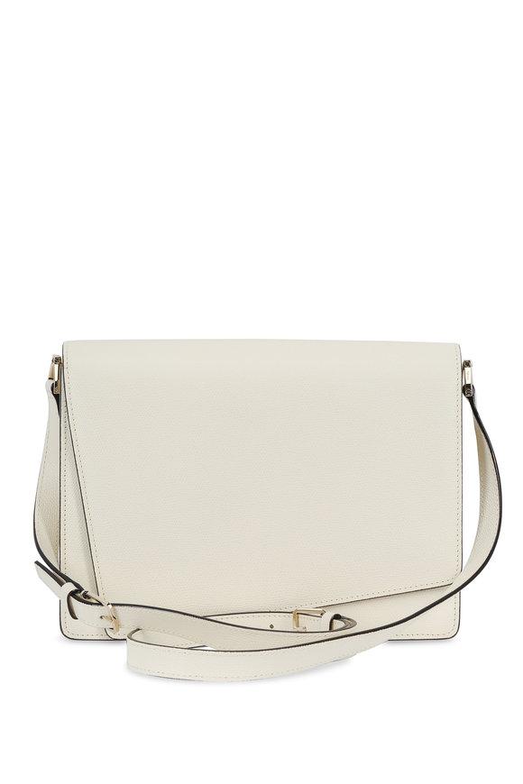 Valextra Twist Off-White Large Shoulder Bag