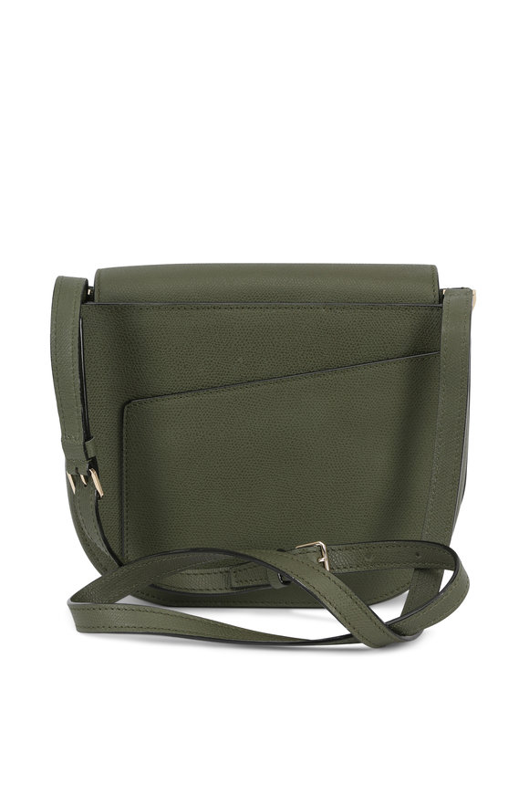 Valextra Twist Military Green Crossbody