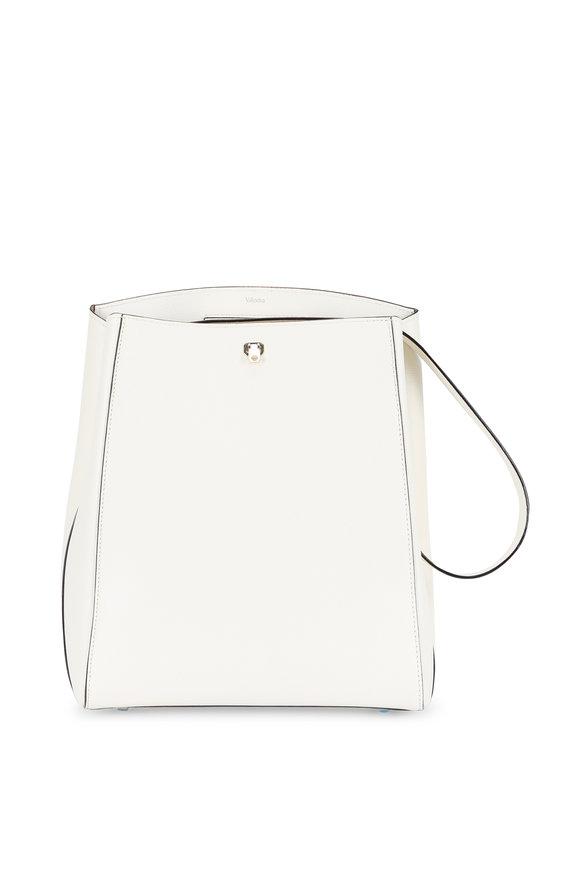 Valextra Triennale White Vertical Shoulder Bag