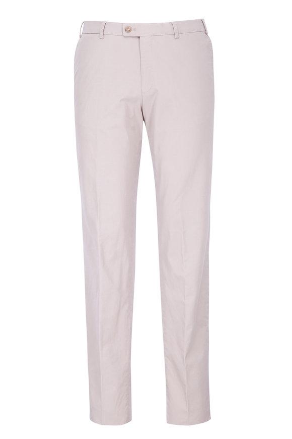 Hiltl Khaki Flat Front Trouser