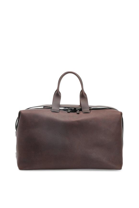 Troubadour Brown Leather Weekender Bag