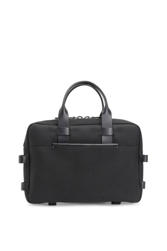 Troubadour Black Nylon & Leather Briefcase