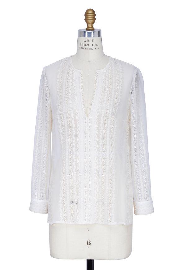 Elizabeth & James Riley Ivory Lace Long Sleeve Blouse