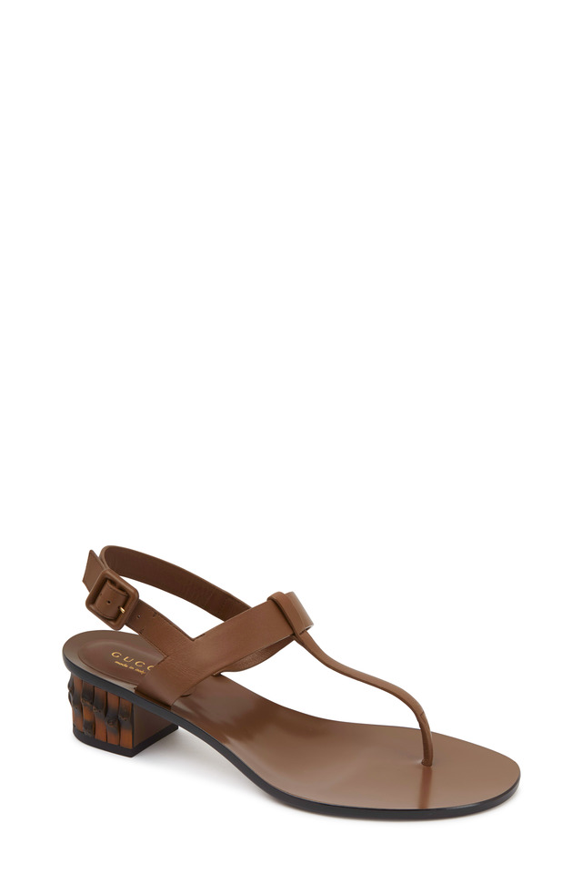 Dahlia Maple Leather Thong Sandals