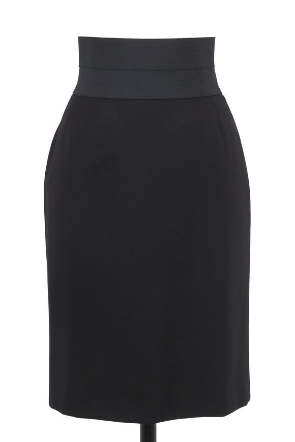 Akris Punto Black Stretch Jersey High Waist Pencil Skirt