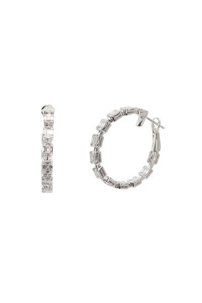 Kai Linz - 18K White Gold Diamond Hoops