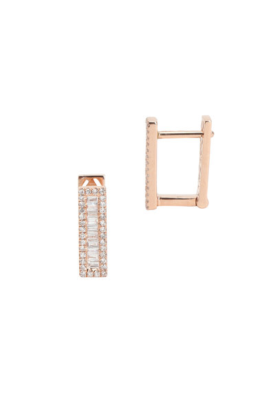 Kai Linz - Rose Gold Pave Square Earring