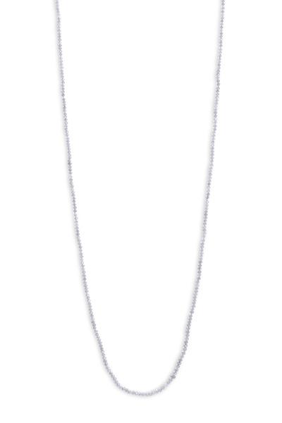 Sylva & Cie - White Diamond Beaded Necklace