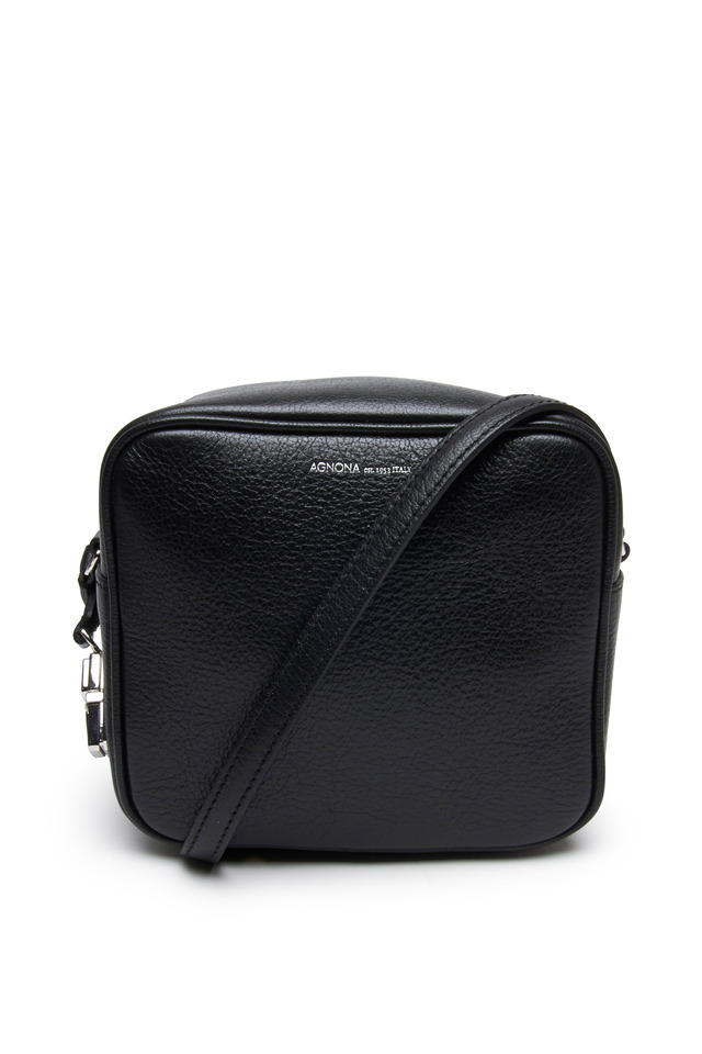 Black Pebble Leather Crossbody