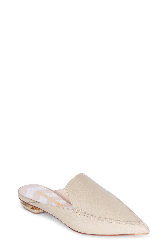 Nicholas Kirkwood Beya Stone Leather Pointed Slide