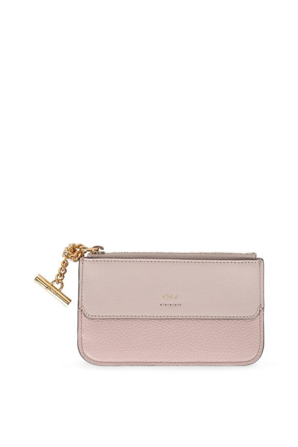 Chloé Joe Pale Pink Leather Card Case