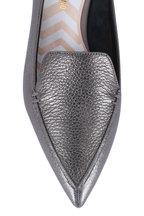 Nicholas Kirkwood - Beya Metallic Pewter Leather Pointed Flat
