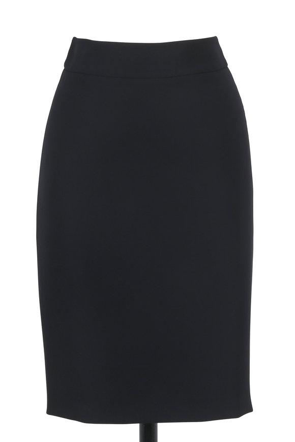 Armani Collezioni Black Cady Pencil Skirt