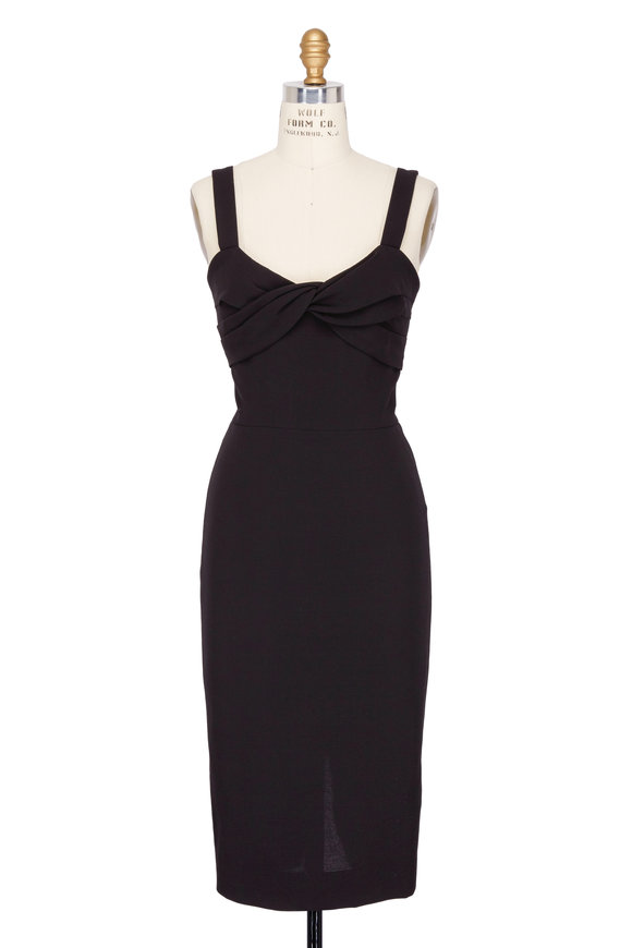 Victoria Beckham Black Wool & Silk Cami Dress