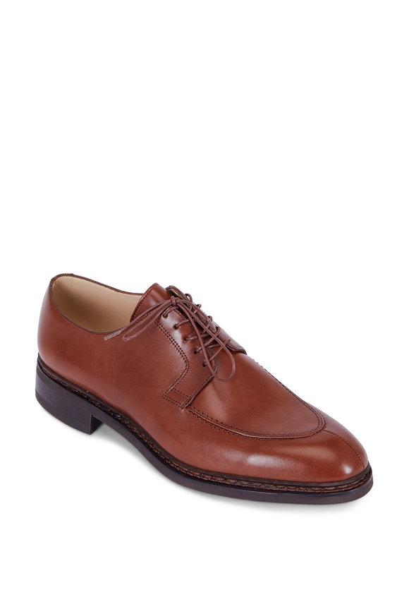 Paraboot Rosseau Brandy Leather Derby Shoe