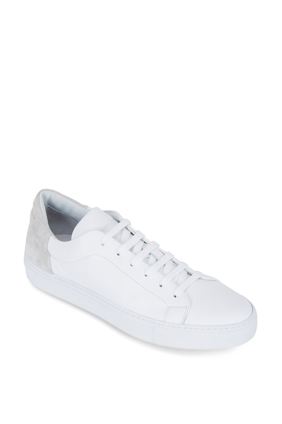 To Boot New York Huston White Leather & Suede Low Top Sneaker