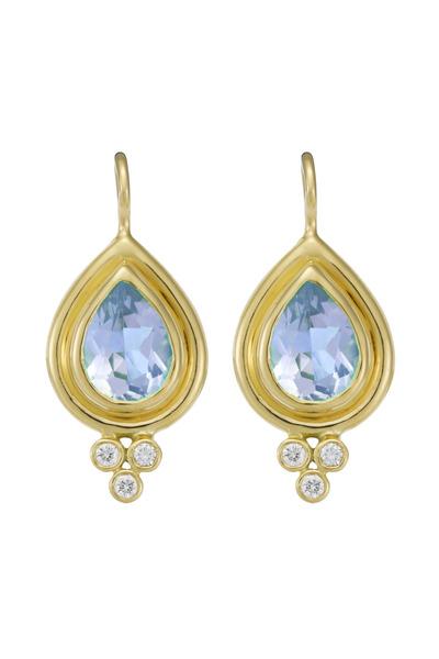 Temple St. Clair - Aqua Diamond Faceted Earrings