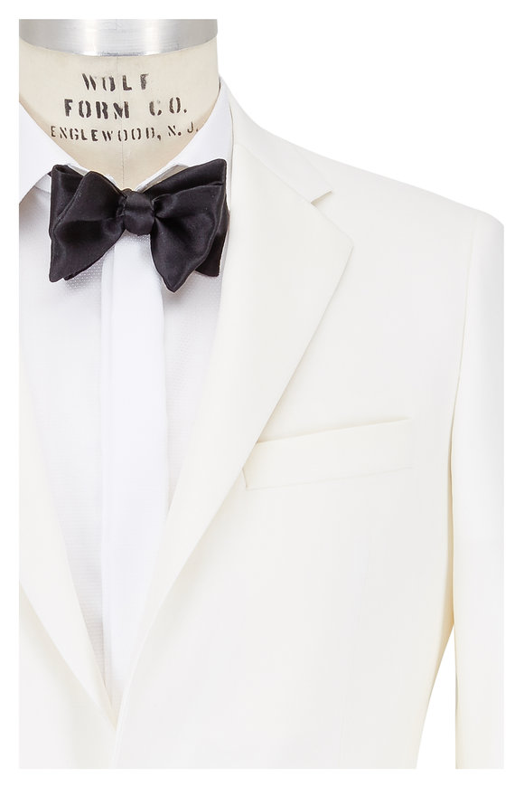 Samuelsohn White Wool Dinner Jacket