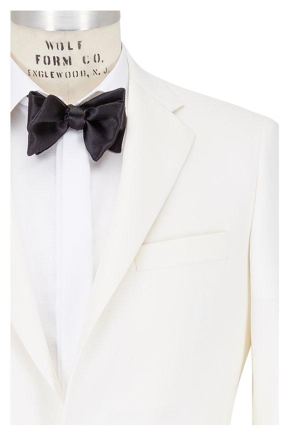 Samuelsohn White Wool Dinner Jacket