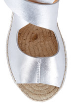 Bettye Muller - Mobile Silver Leather Wedge Espadrille, 75mm