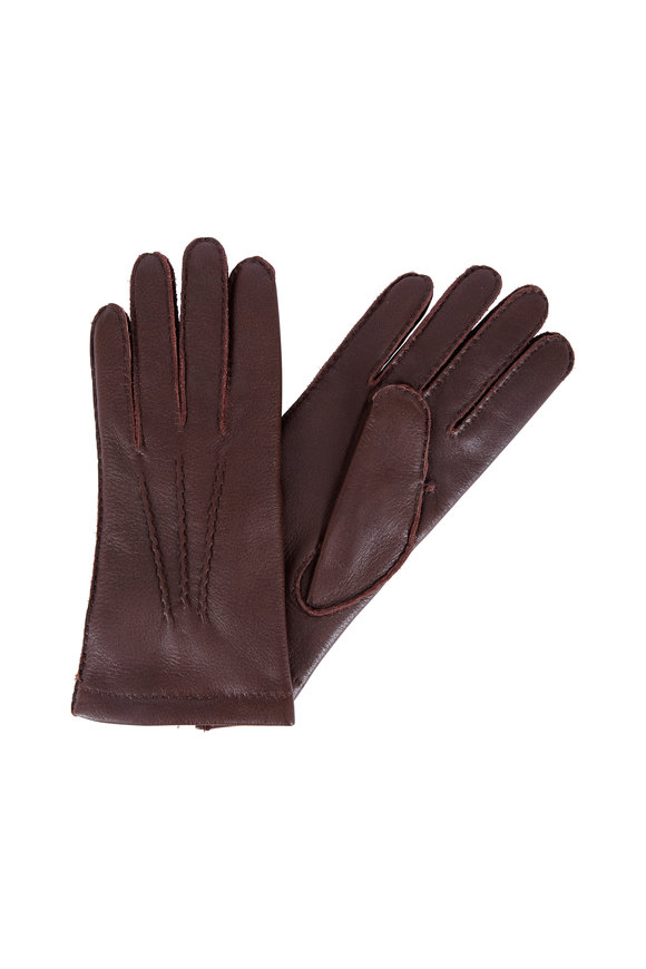 Hestra Espresso Leather Gloves