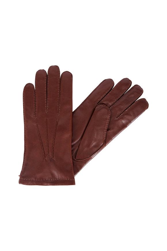 Hestra Chestnut Leather Gloves