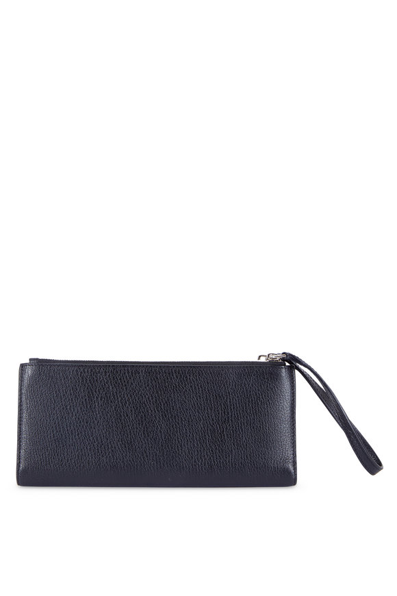 Givenchy Pandora Black Leather Double-Zip Wallet