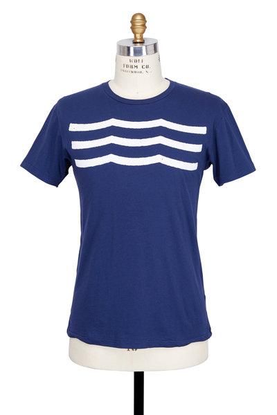 Sol Angeles - Navy Blue Waves Crewneck T-Shirt