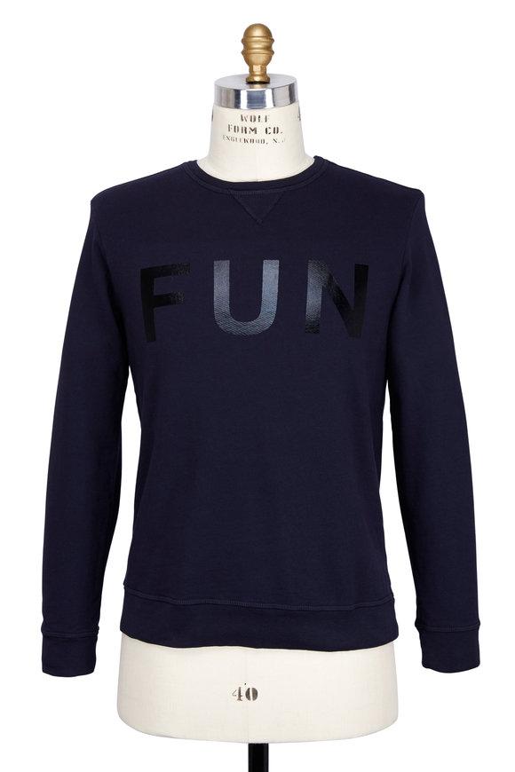 Sol Angeles Fun Pullover Navy Cotton Sweatshirt