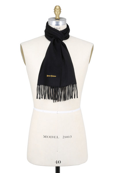 Hickey Freeman - Solid Black Cashmere Scarf