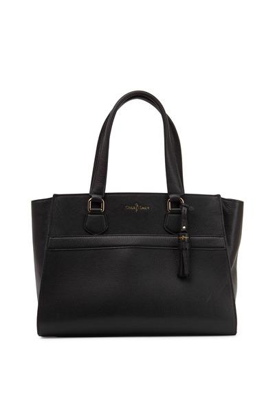 Cole Haan - Berkeley Black Leather Large Zip Satchel