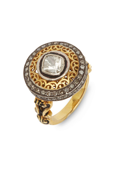 Loren Jewels - Yellow Gold Round-Cut Diamond Ring