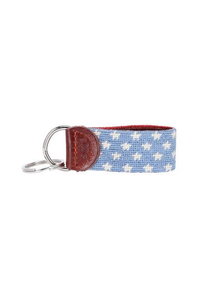 Smathers & Branson - Red & Blue Stars & Stripes Needlepoint Key Fob