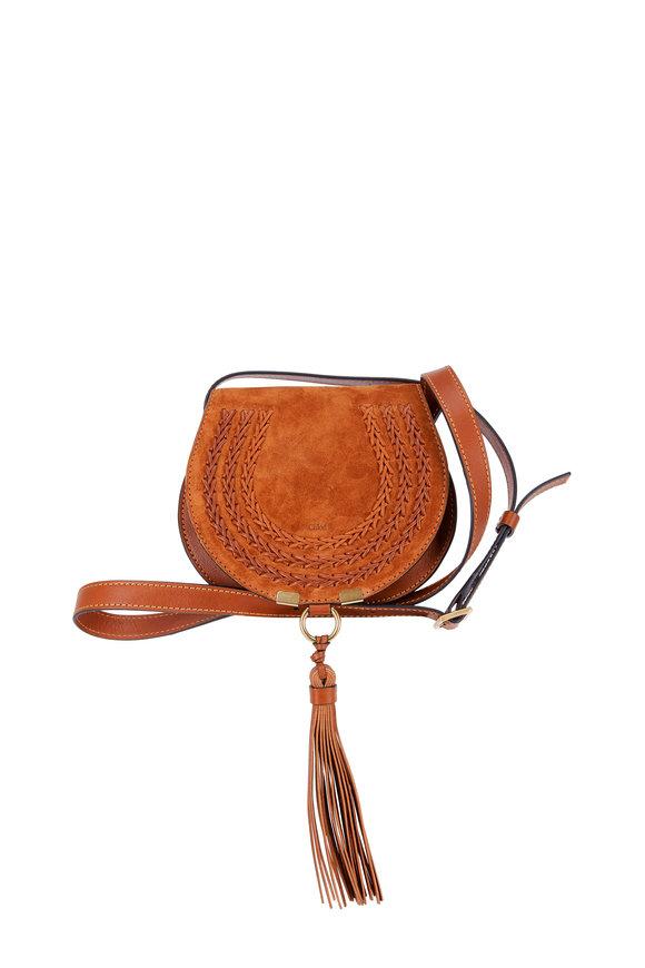 Chloé Marcie Caramel Mini Saddle Crossbody