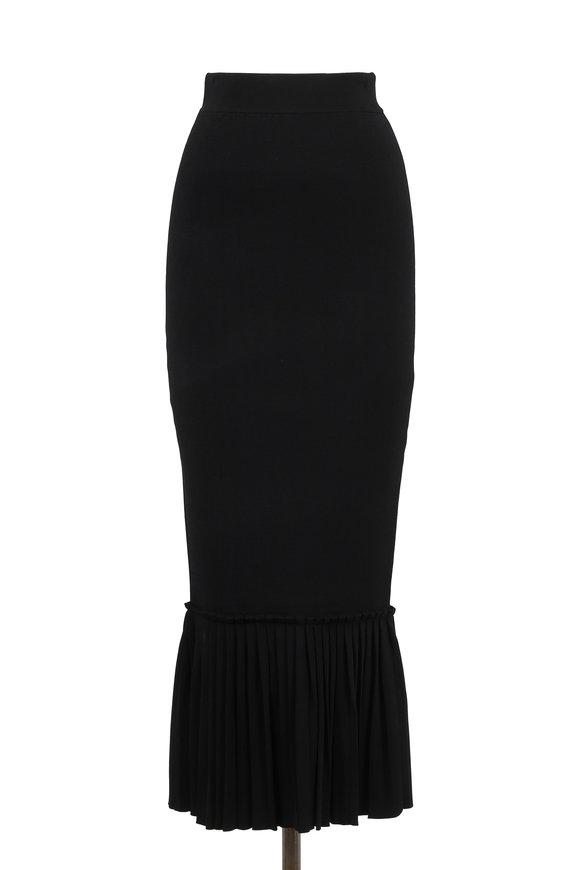 Jonathan Simkhai Black Knit Trumpet Skirt