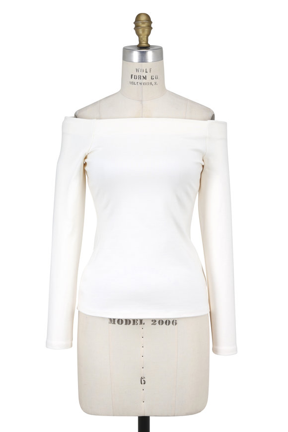 L'Agence Cynthia Stretch Jersey Off-The-Shoulder Top