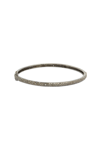 Loren Jewels - Gold & Silver White Diamond Bangle Bracelet