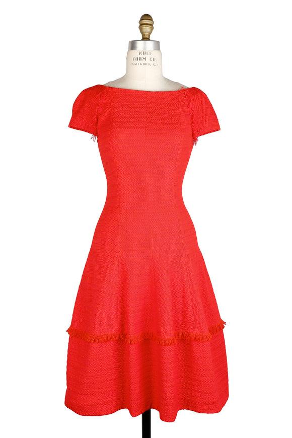 Talbot Runhof Kovalic10 Red Fit & Flare Dress