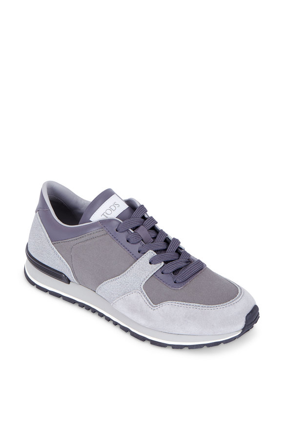 Tod's Gray Suede Trainer Sneaker